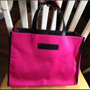 Auth Pink Burberry Italy Handbag Tote Bag Purse 👜